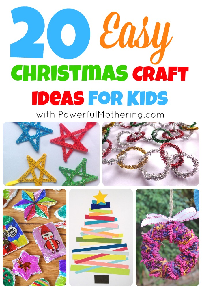 20 easy christmas craft ideas for kids for Free christmas crafts for kids