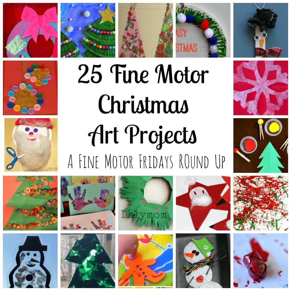 25 Fine Motor Christmas Art Projects for Kids from Lalymom