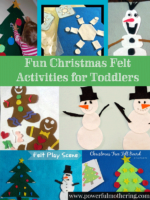 Fun Christmas Felt Activities for Toddlers