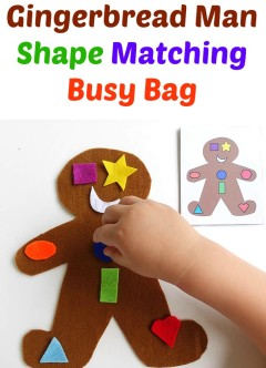 Gingerbread Man Shape Matching Busy Bag from PowerfulMothering.com