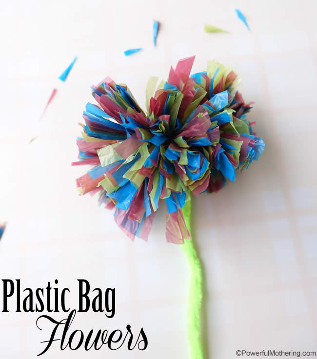 Plastic Bag Flowers - Cutting Skills in Practice