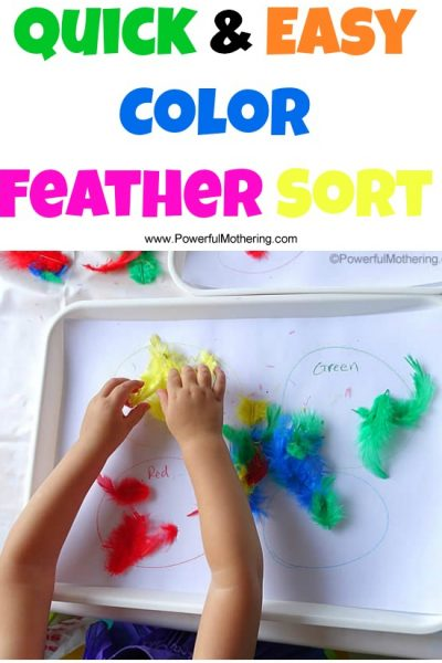 Quick & Easy Color Feather Sort