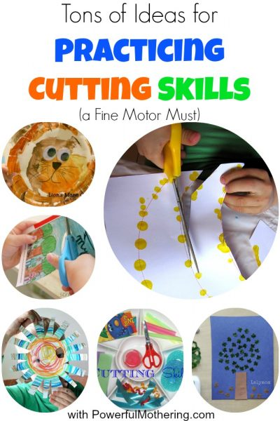 Tons of Ideas for Practicing Cutting Skills (a Fine Motor Must)