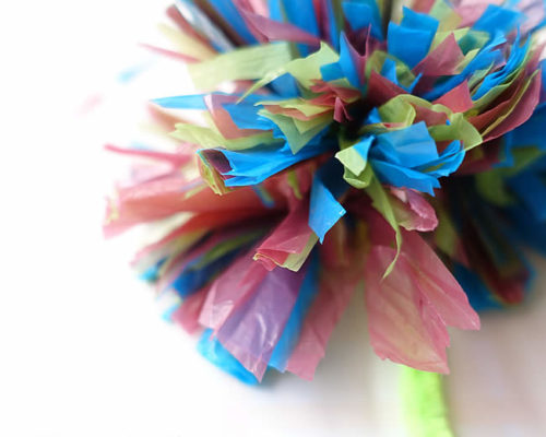 Plastic Bag Flowers – Cutting Skills in Practice