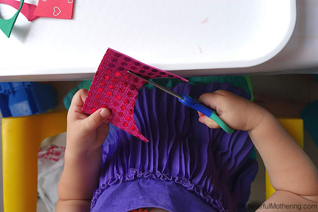 learning to use a scissors