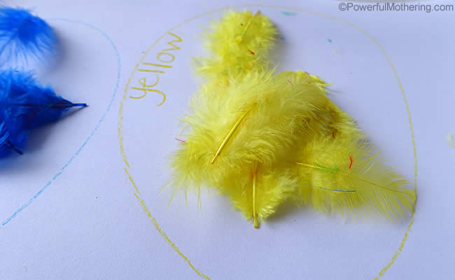 yellow feathers