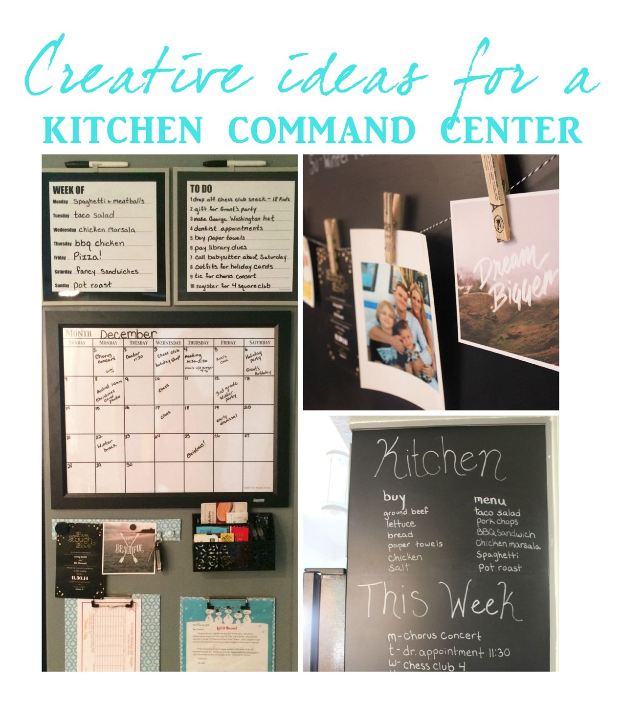 Kitchen Command Center: Get Organized With A Kitchen Command Center