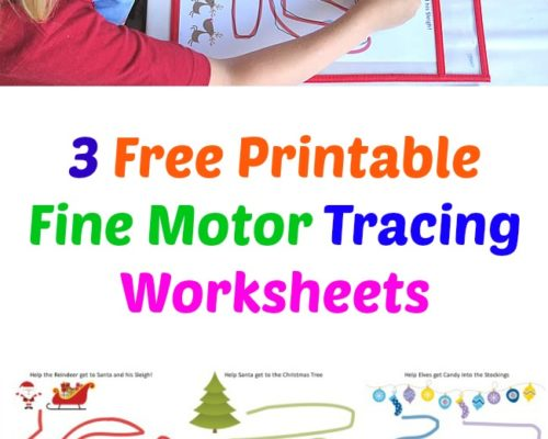 3 Free Printable Fine Motor Tracing Worksheets – Christmas Themed