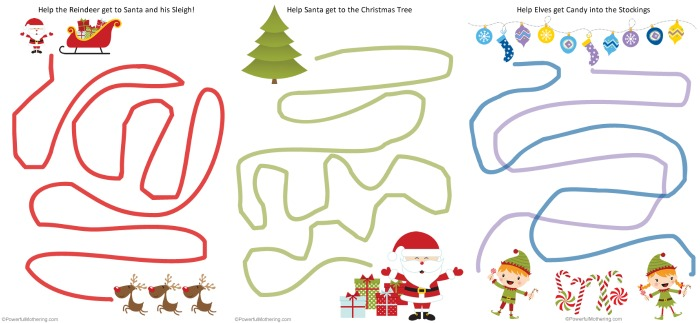 3 Free Printable Fine Motor Tracing Worksheets - Christmas Themed