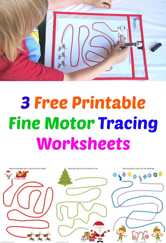 3 Free Printable Fine Motor Tracing Worksheets