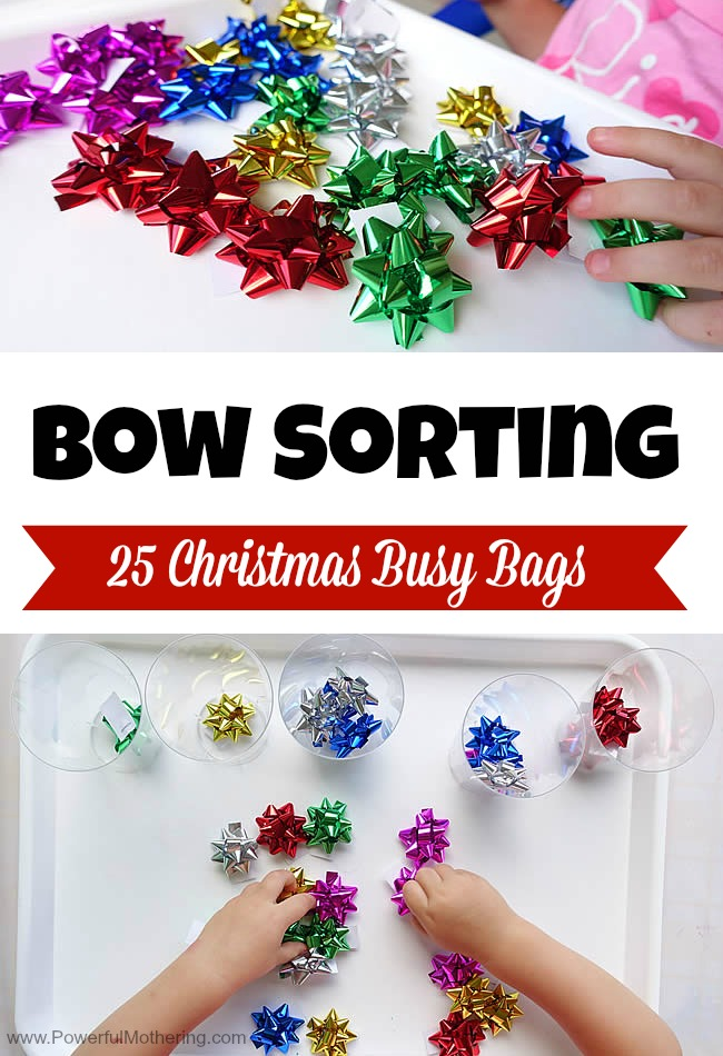 Bow Sorting - Christmas Busy Bags