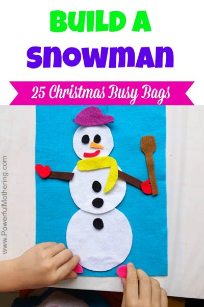 Build a Snowman - Christmas Busy Bags
