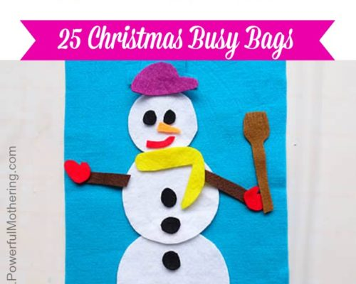 Build a Snowman  – Christmas Busy Bags