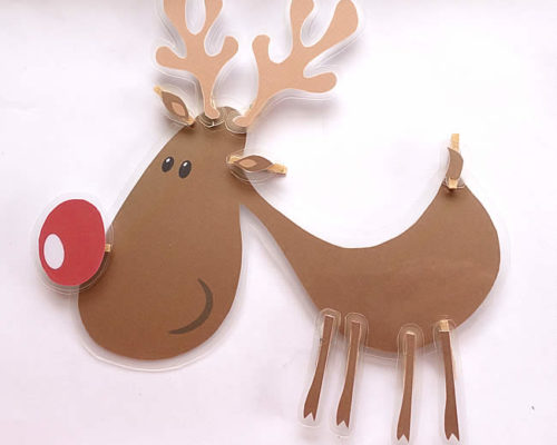 Printable Reindeer  – Christmas Busy Bags