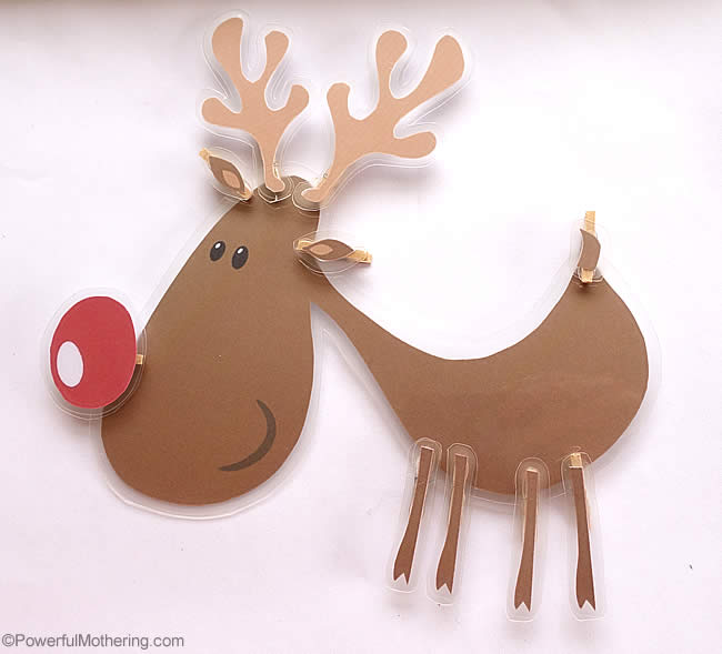 Completed clip reindeer
