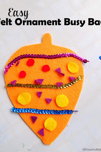 Easy Felt Ornament Busy Bag