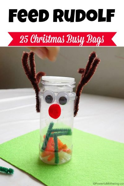 Feed Rudolf the Reindeer - Christmas Busy Bags