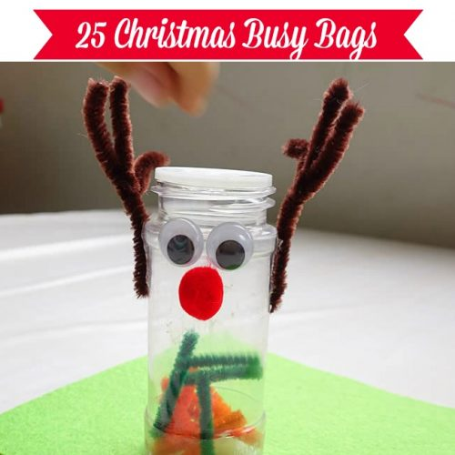 Feed Rudolph the Reindeer - Christmas Busy Bags