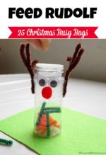Feed Rudolf the Reindeer – Christmas Busy Bags