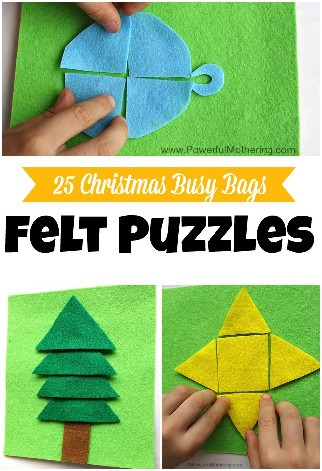Felt Puzzles - Christmas Busy Bags