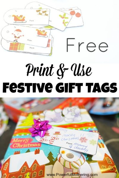 Free Print & Use Festive Gift Tags from PowerfulMothering.com