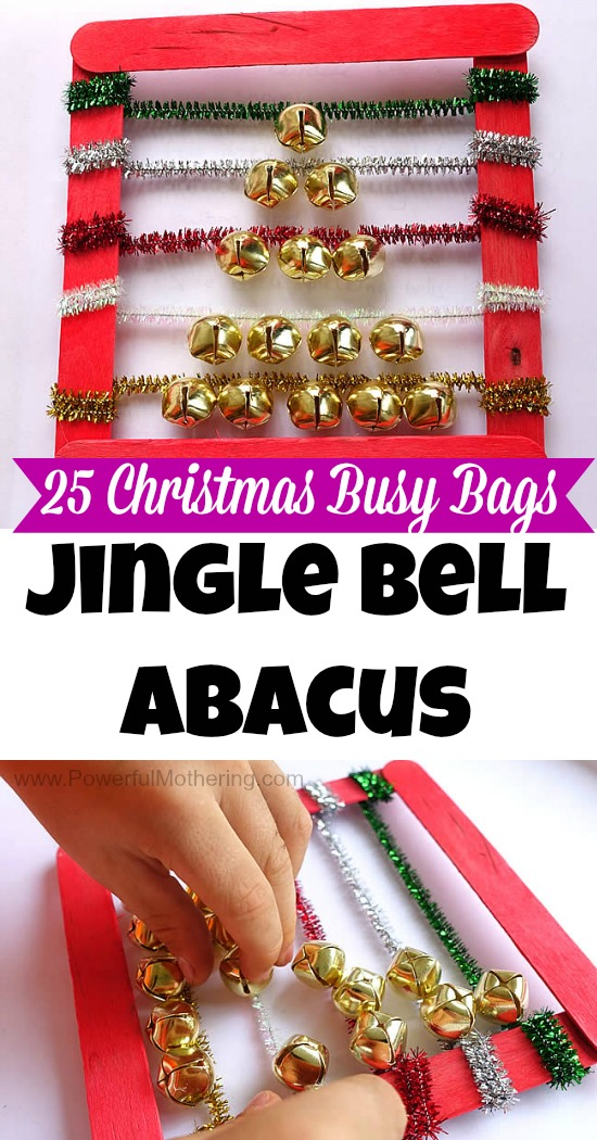 Jingle Bell Abacus Tree - Christmas Busy Bags