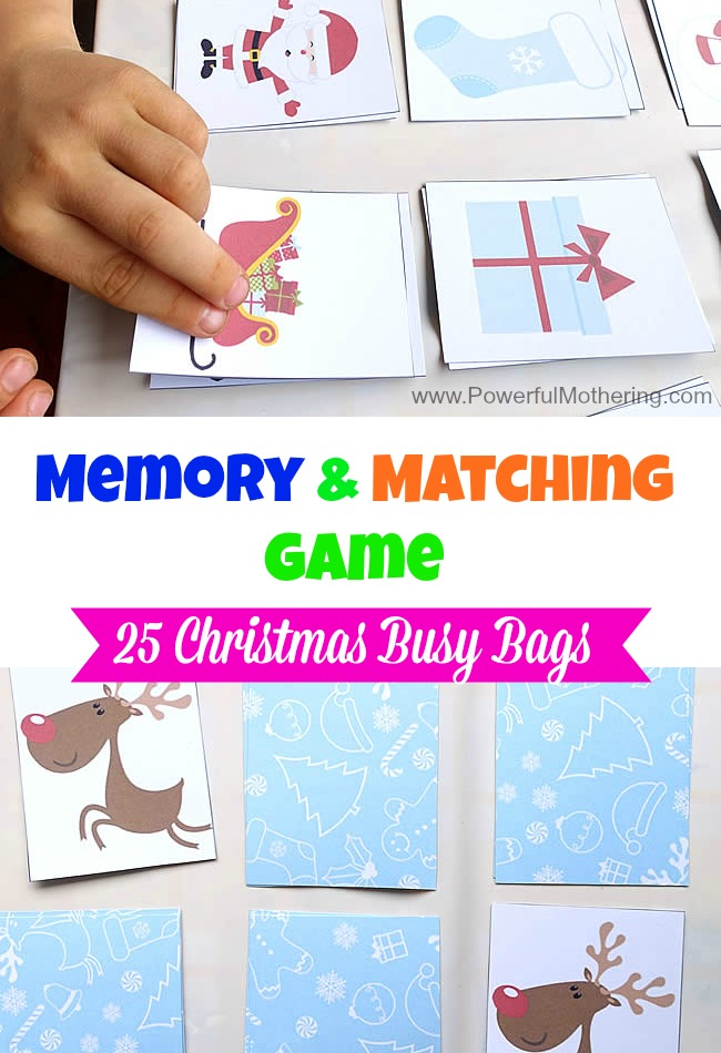 Memory & Matching Game - Christmas Busy Bags