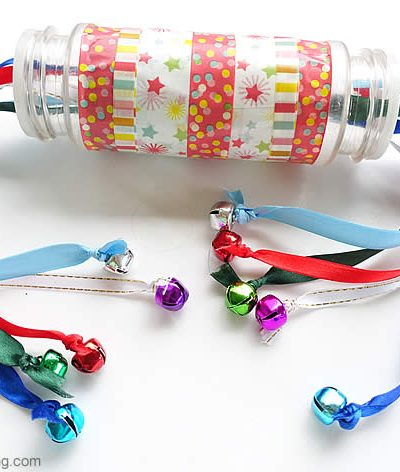 Ribbon Pulling Spice Bottle with Bells
