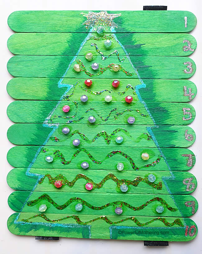 christmas tree craft stick puzzle