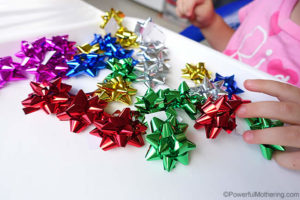Bow Sorting – Christmas Busy Bags