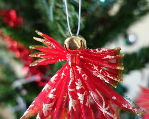 DIY Ribbon Angel Ornaments