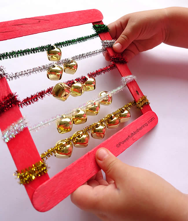 jingle bells abacus with pipe cleaners