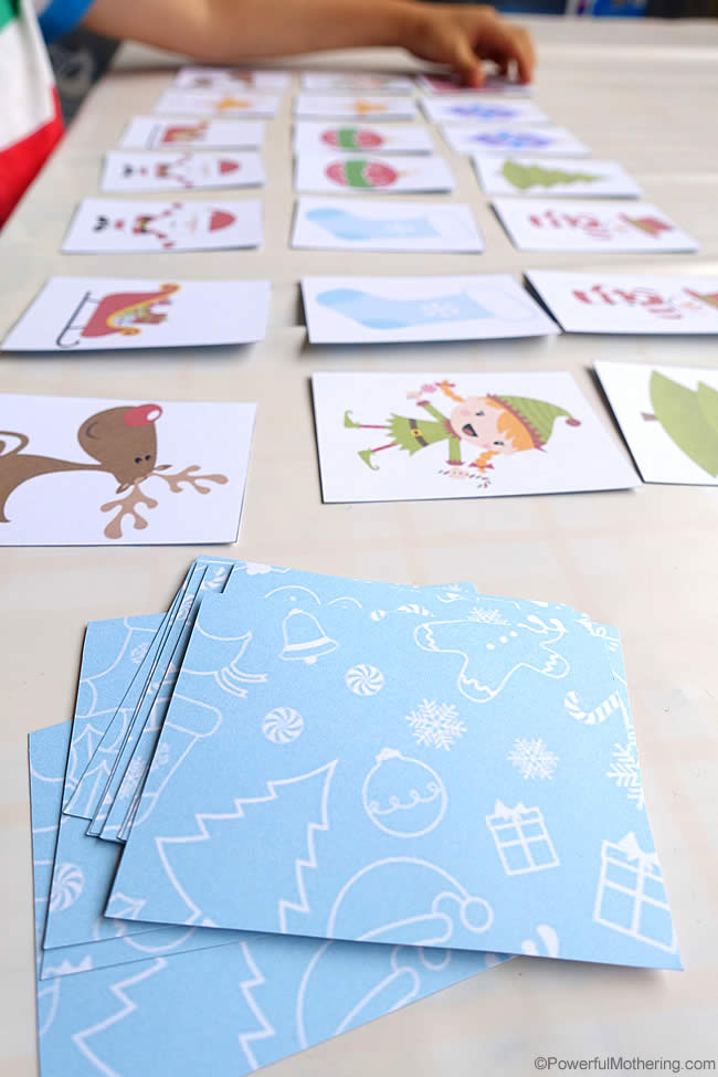 Memory Matching Game Christmas Busy Bags