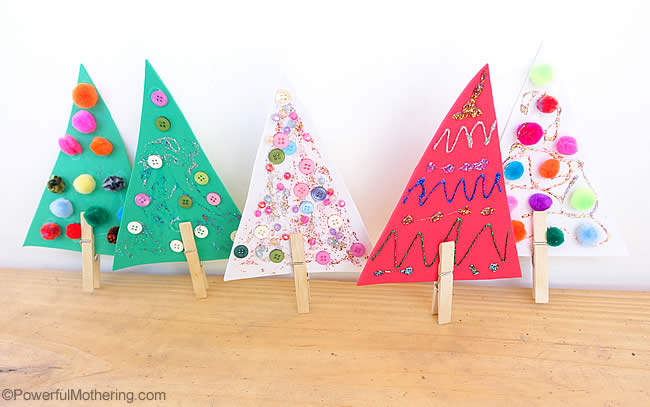 mini christmas trees for fine motor skills