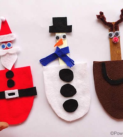 set of 3 busy bags for christmas characters