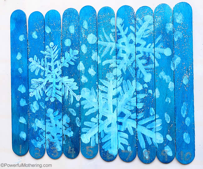 snowflake craft stick puzzles