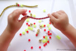 Threading Pipe Cleaners – Christmas Busy Bags