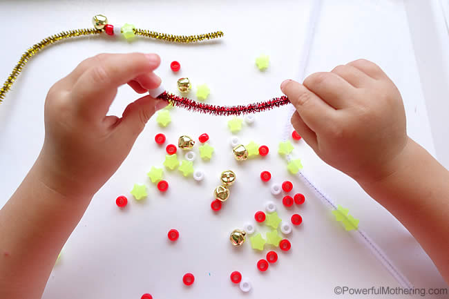 threading skills for fine motor
