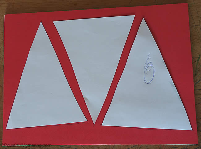 triangle cut outs