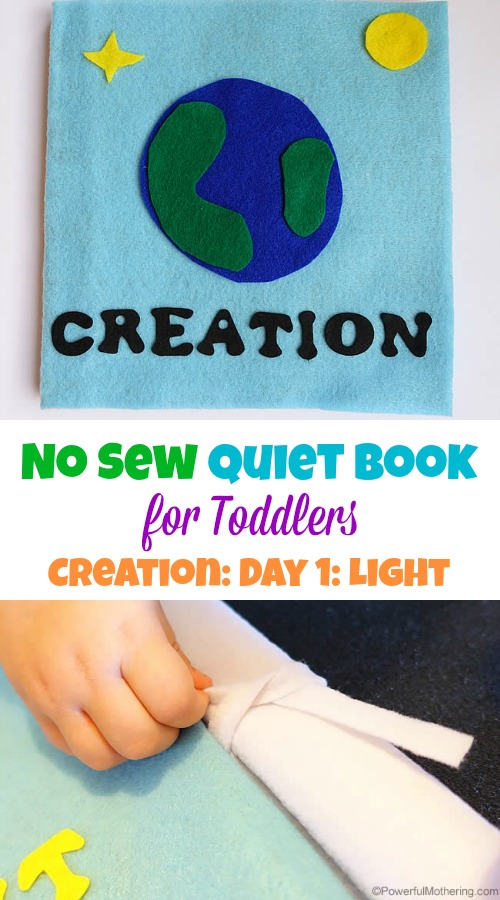 Creation Light - No Sew Quiet Book for Toddlers