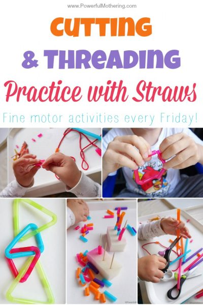 Cutting & Threading Practice with Straws