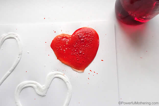 Gorgeous fizzed heart