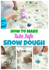 How to Make Snow Dough recipe Taste Safe