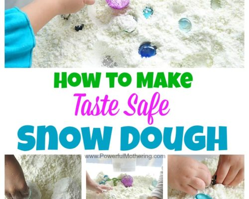 How to Make Snow Dough (Taste Safe)
