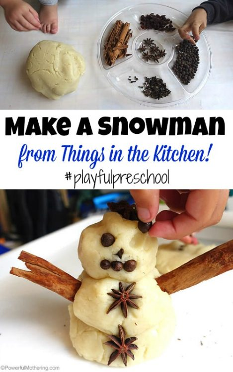 Make a Snowman from Things in the Kitchen