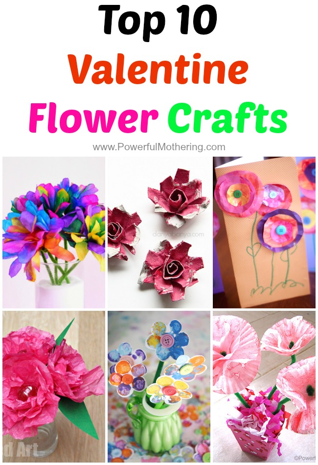 Top 10 valentine flower crafts for Inspirational valentine crafts