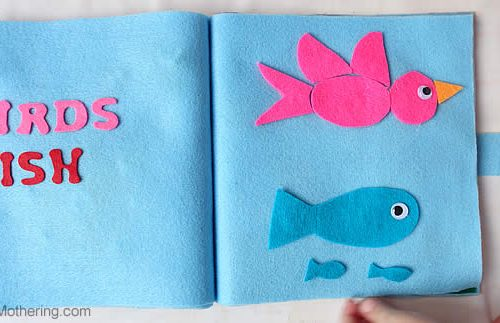 birds and fish creation no sew quiet book