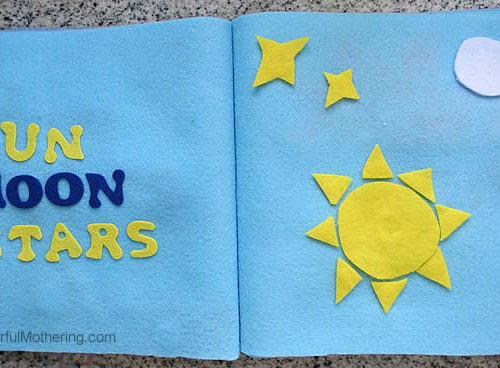 Creation: Sun, Moon & Stars – No Sew Quiet Book for Toddlers