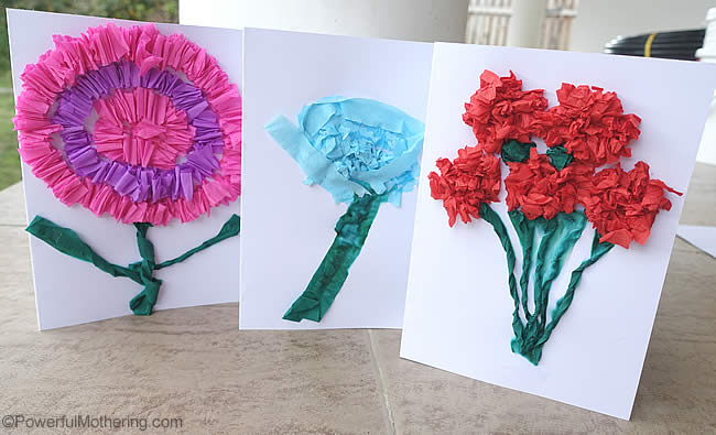 Crepe paper flower cards mightylinksfo