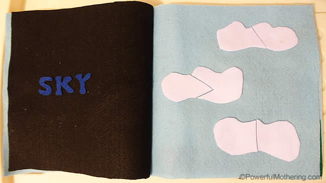 Creation: Sky – No Sew Quiet Book for Toddlers